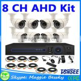 New! 8 Channel AHD CCTV System 8Pcs AHD CCTV Camera 960P Outdoor Waterproof Color Image + H.264 HDMI 8CH AHD DVR Video Recorder