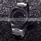 New style Black Dial Simple Stainless Stell Printed Logo Men's Custom Watches Wholesale                                                                         Quality Choice