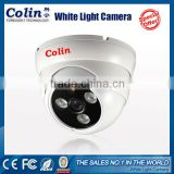 Colin classical indoor real color night vision white light 2.8-12mm cctv 700tvl effio-e cctv ir dome camera with audio function