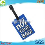 2D or 3D High Quality Custom Logo Promotion Soft Pvc Luggage Tag