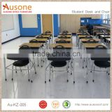 2016 New Design Popular Smart Feature Student Wood Metal Study Desk And Chair For School Or Meeting