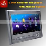 android headrest DVD with wifi connection USB FM android 4.0 car dvd with android passat