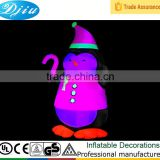 DJ-553 christmas inflatable Penguin in the evening Red village led light