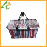 promotional folding fabric collapsible shopping basket