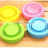 2015 promotional product portable collapsible silicone cup for travelling