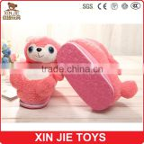 pink plush slippers for girls hot sale plush animal slippers supply winter plush slippers