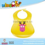 wholesale Kids cute silicone baby bib Fawn bibs baby lunch bibs