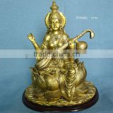wholesale resinic brass india god statues saraswati