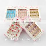 Design Plastic 3D Nail Art Tips, No Adhesive(AJEW-R026-04)
