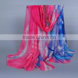 Impress Digital Painting Tree Printed Scarf Silk Scarfs Fshionable Wholesale 180*90 Silk Scarves Shawl