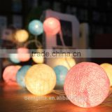 Colorful 35 LEDs Round Cotton Yarn Ball Cotton Ball LED Light String For Wedding And Christmas Decoration Use