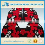 Red flower modern design wool acrylic excellent hail protection car mat