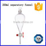 High quality laboratory 250ml glass separatory funnel