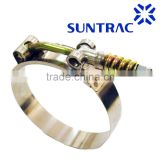 19mm bandwidth Stainless steel High pressure High Torque Spring loaded T-bolt hose clamp/hose clip