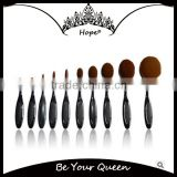 10pcs Toothbrush Style Foundation Oval Makeup Brush Set                                                                         Quality Choice
