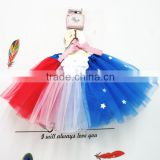 America national day fluffy tutu skirts for girl tutu fabric