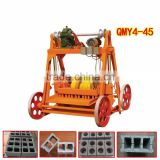 QMY4-45 small scale industries brick molding machine, used concrete block machine for sale machine for small business