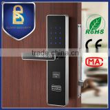 Fashion sliver smart card password door lock with hidden touch screen keypad                                                                         Quality Choice