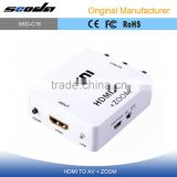 ini Composite AV CVBS 3RCA to HDMI Video Converter Adapter Up Scaler 1080P