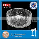 Wholesale big size heavy clear glass mixing bowl