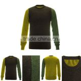 wholesale top quality 12gg cable knitted pure men cashmere sweaters from China alibaba