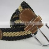 nylon elastice braid fashion belt for men
