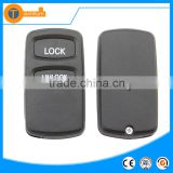 car remote key shell cover shell blank with 2 button with logo for mitsubishi pajero asx 2013 grandis mirage