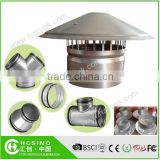 China Hot Sale Galvanized Steel Round Roof Cowl Waterproof Vent Cap