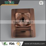 Aluminum gravity die casting for electroplate coffee machine base