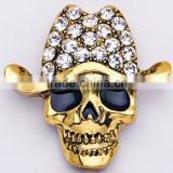 44*43mm SUNTEK Wearing Hat Skull Brooch Pin Decoration for Halloween Party Favor Gift