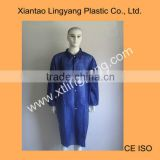 Dark Blue Disposable Lab Coat