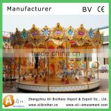 Amusement park machine classic double deck carousel/merry go round for sale happy game Luxury carousel