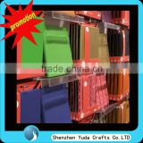 Lucite slatwall office supplies display with many hooks/ cheap price acyric display shelves