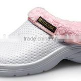 2015 new indoor white winter nurse clogs shoes