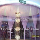 chiffon wedding wall curtains with stand.Wedding backdrop,wedding drapery
