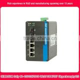 4-Port 10/100T + 2-Port 100/1000X SFP Industrial Ethernet Poe Switch,industrial media converter