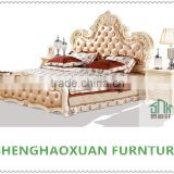 French style bed room furniture HA-916# french sofa bed wood double bed models wood double bed designs