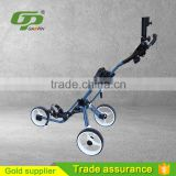 New products best quality cheap Golf three wheels trolleys foldable with umbrella holder