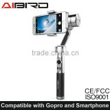 Aibird Uoplay 3 axis handheld smartphone gimbal stabilizer for Android phones and Go pro camera