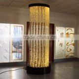 Floor standing water bubble column wall, LED color changing with remote control