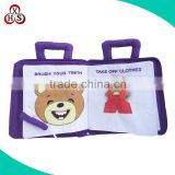 Baby Fabric Activity Book soft cloth learning activity quiet book for Children