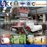 Engineers overseas service 15t/d toilet tissue paper printing machine, tissue recycle machine