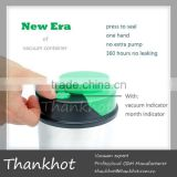 stainless steel airtight canister, vacuum sealed,FDA/EU approved, Stainless steel body, ABS,silicon gel Lid