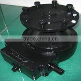 Wheel drive gearbox for sprinkler irrigation