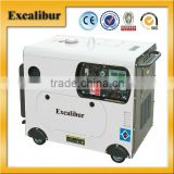 5KVA small portable single cylinder silent diesel generator price with Digital display panel