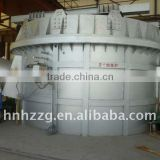 Melting furnace for aluminum casting machine