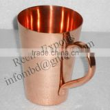 12 oz Copper Julep cup Copper Glass Copper Tumbler Solid Copper Mint Julep Cup Hammered cups