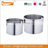 Set of 2 Round Stainless Steel fireplace Log Holder
