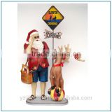 High quality fibreglass Santa Claus sculpture for Christmas