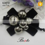 Elegant decorative black bead bow shoe clip for high heel shoes